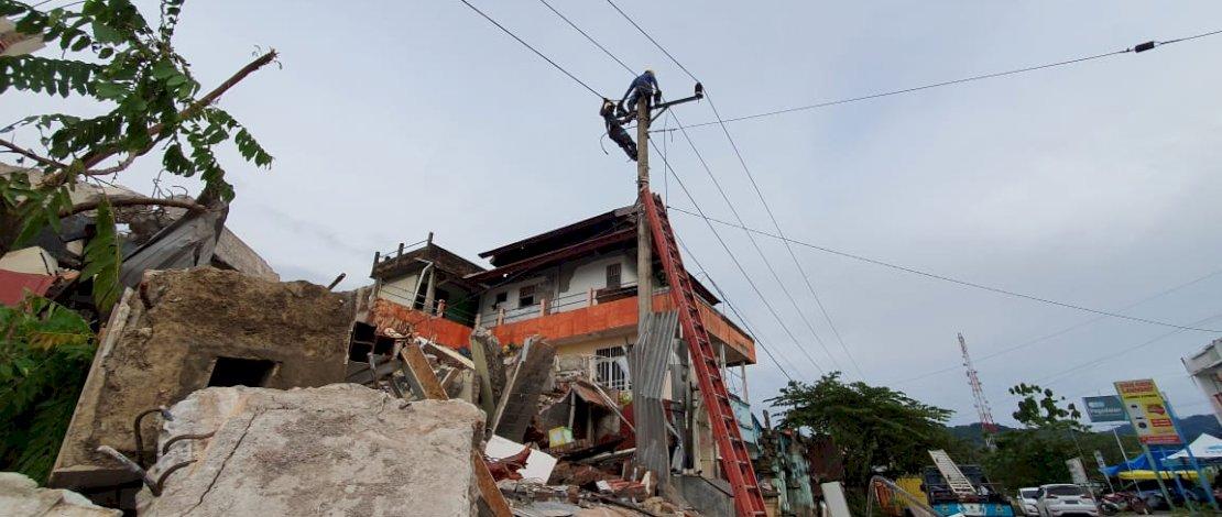 528 Gardu Listrik Terdampak Gempa Mamuju dan Majene Sulbar Kembali Menyala