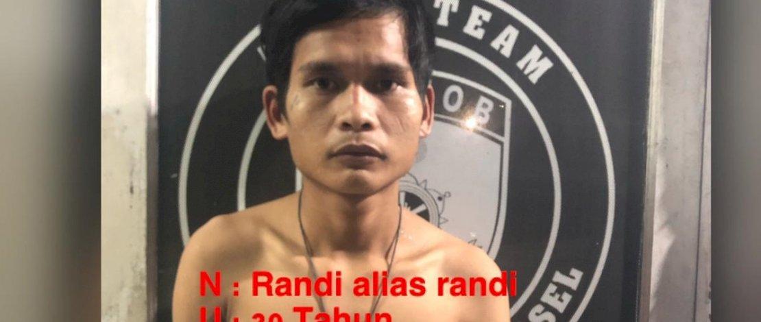 Randi, pelaku begal di Counter AK 29 Cell, Sudiang Raya, dibekuk Resmob Polda Sulsel.