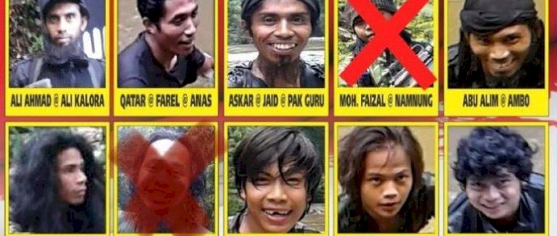 Haerul alias Irul (tengah bawah), menantu Santoso, tewas akibat ledakan bom yang dia bawa.