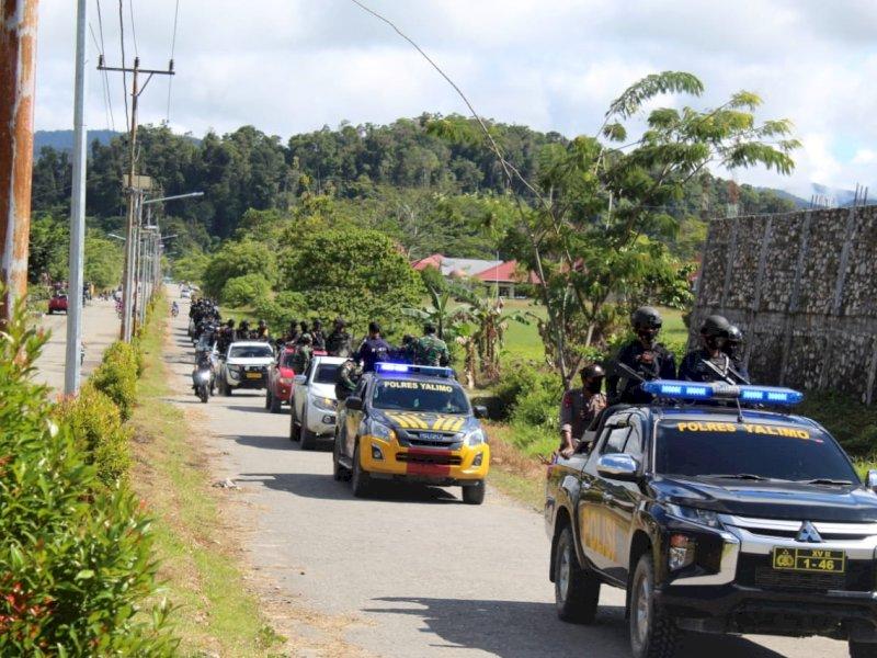 Jelang Putusan PHPU di MK, Brimob Sulsel Ikut Amankan Wilayah Kabupaten Yalimo Papua