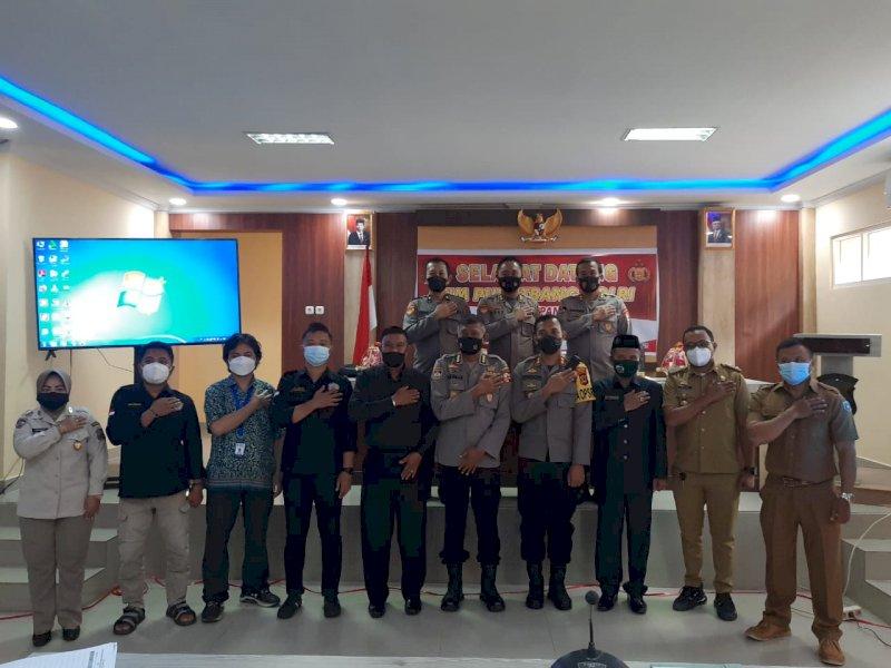 Kapolres Pangkep Terima Kunjungan Puslitbang Polri