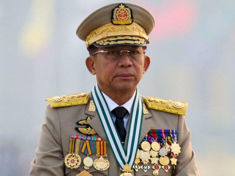 Pemimpin Junta Militer Myanmar Tiba di Jakarta