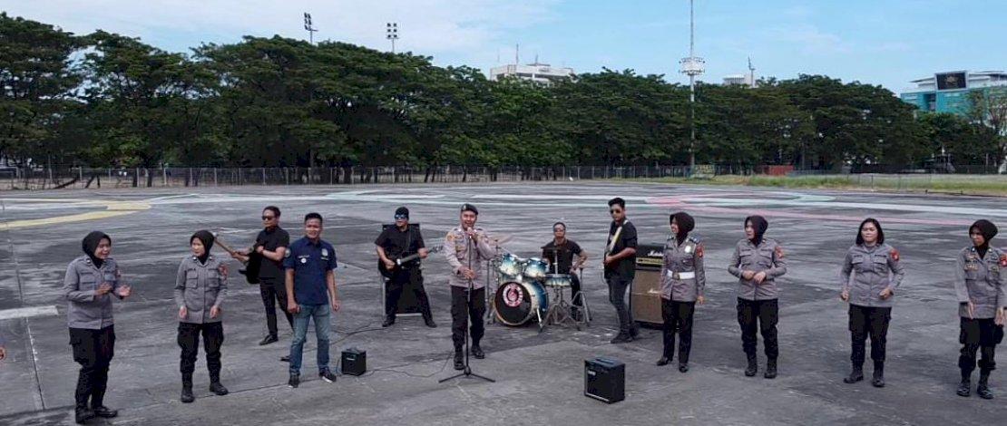 Personel Polsek Panakkukang Rilis Single Sambut HUT Bhayangkara ke-75