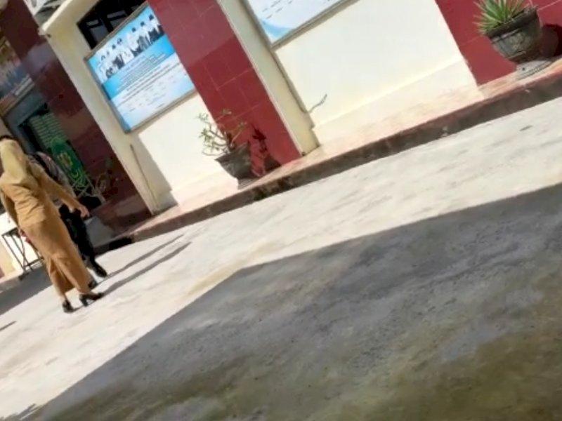 Gagal Mediasi, Oknum Polisi dan Istrinya Ribut di Halaman Pengadilan Agama Pinrang