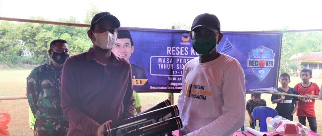 Reses di Lakkang, RL Beri Bantuan Perlengkapan Olahraga