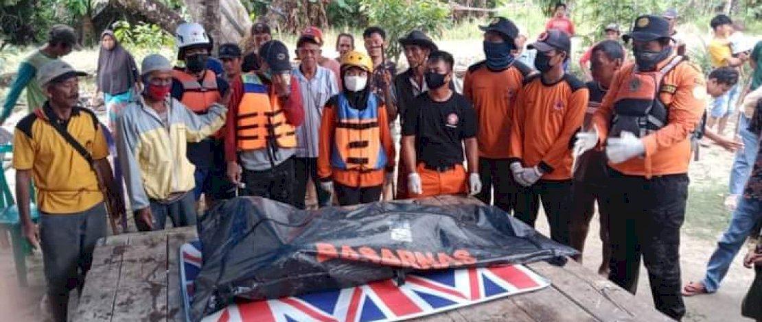 Salah satu korban tenggelam berhasil ditemukan Timsar dan Relawan.