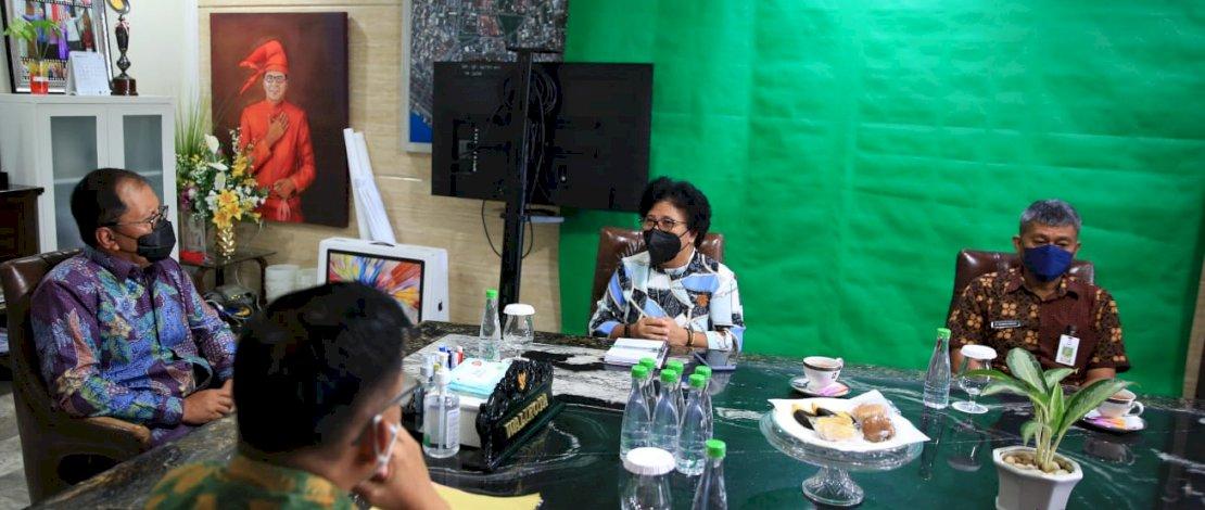 Perwakilan USAID IUWASH PLUS, menemui Wali Kota Makassar, Moh Ramdhan Pomanto