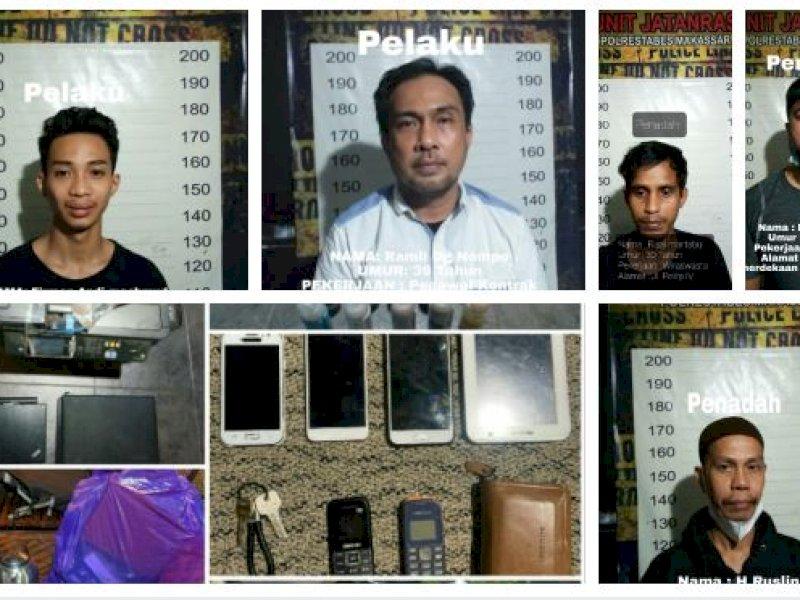 Begini Modus Dua Pegawai Kontrak Gasak Barang-barang Balaikota Makassar