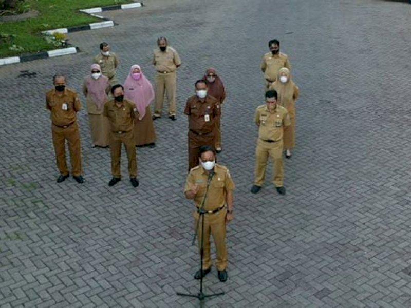 Di Apel Pagi, PLT Sekretaris DPRD Makassar Tekankan Kedisiplinan