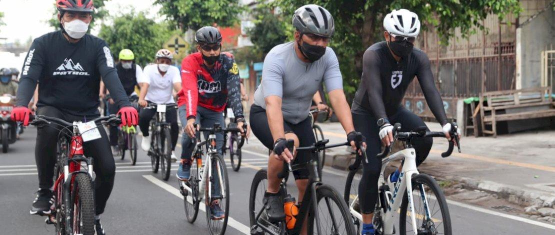 Bersama 41 Walikota se-Indonesia, Danny Nikmati Jalur Gowes Monalisa Kota Yogyakarta