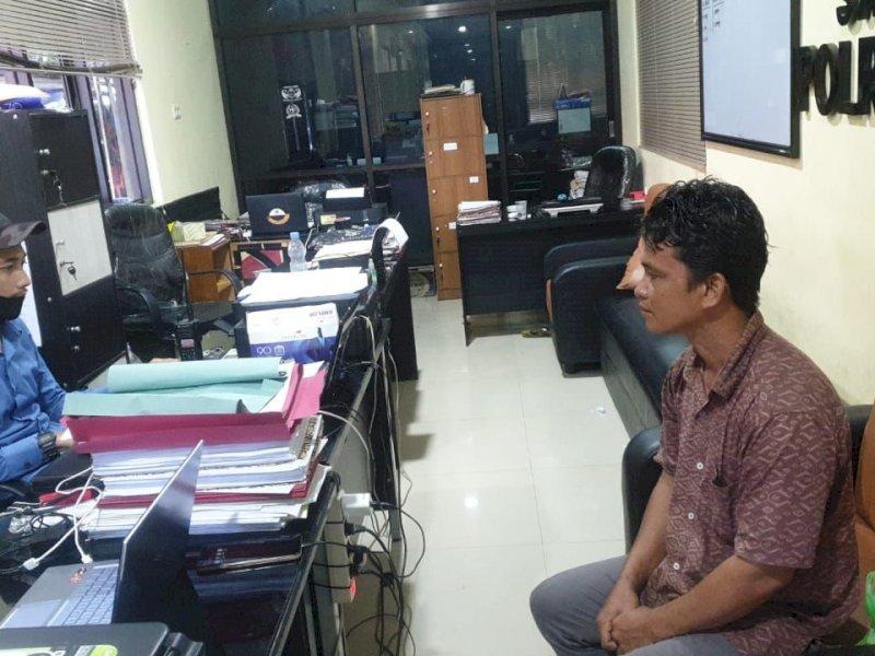 Isi BBM Pakai Jeriken, Pria Ini Ditangkap Satreskrim Polres Pangkep