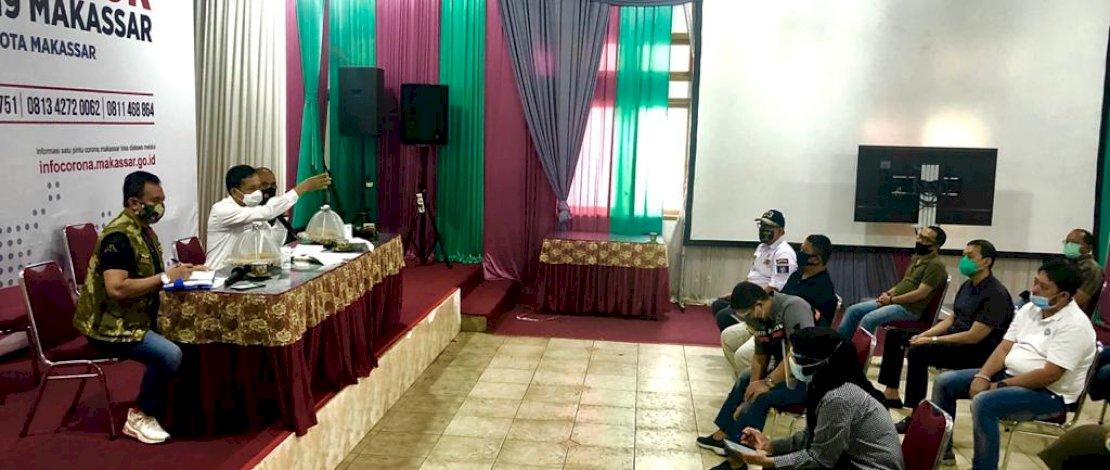Rapat persiapan penegakan Perwali 36 tentang percepatan penanganan Covid-19 di Makassar.