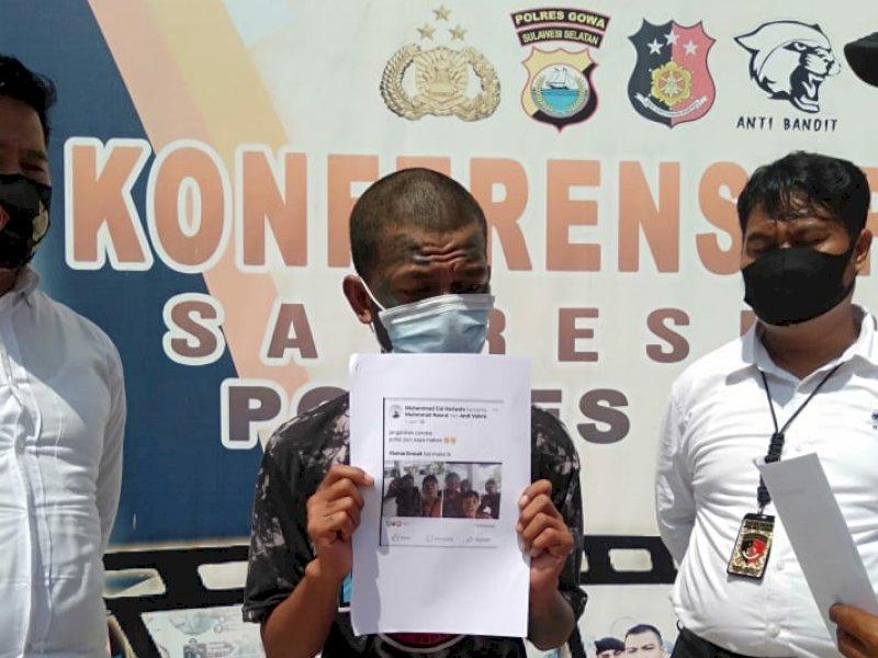 'Jangankan Corona Polisi Pun Saya Makan', Cuit Pemuda Asal Gowa