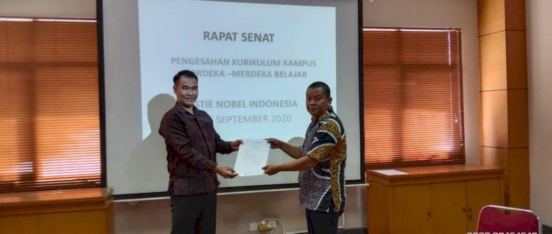 Penerapan secara resmi Kampus Merdeka-Merdeka Belajar di STIE Nobel Makassar.
